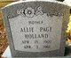 Allie <I>Page</I> Holland