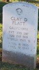"""Profile photo:   Clay D """" """" <I> </I> Flatt,"""