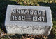 Profile photo:  Anna <I>Rodabaugh</I> Bame