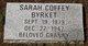 Sarah <I>Coffee</I> Byrket