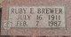 Ruby E <I>Wiebe</I> Brewer
