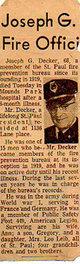 Profile photo:  Joseph George Decker