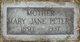 Mary Jane <I>Bennett</I> Blackwell Peters