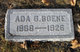 Profile photo:  Ada Gertrude <I>Fewell</I> Boeke