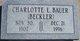 Charlotte Viola Louise <I>Beckler</I> Bauer