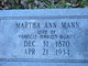 Martha Ann <I>Mann</I> Burns
