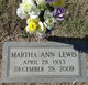 Martha Ann <I>Cole</I> Lewis