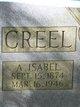 Profile photo:  A. Isabel Creel