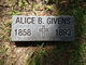 Profile photo:  Alice Bertha <I>Turner</I> Givens