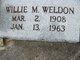 Willie Mae <I>Sheppard</I> Weldon