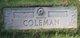 Profile photo:  Della May <I>Comstock</I> Coleman