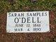 Sarah Ann <I>Samples</I> O'Dell