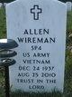 SPC Allen Wireman