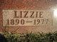 """Profile photo:  Elizabeth """"Lizzie"""" <I>Eiler</I> Hixenbaugh"""