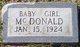 Profile photo:  Baby Girl McDonald