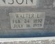 Walter L Johnson