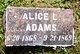 Profile photo:  Alice L. Adams
