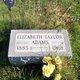 Elizabeth C <I>Florer Taylor</I> Adams