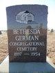 Bethesda German Congregational Cemetery