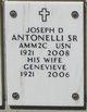 Profile photo:  Joseph D. Antonelli, Sr