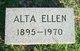 Profile photo:  Alta Ellen Campbell