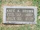 "Profile photo:  Katherine ""Kate"" <I>Kitzmiller</I> Brown"