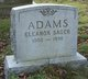 Eleanor <I>Sager</I> Adams