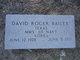 Profile photo:  David Roger Bailey