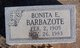 "Profile photo:  Bonita Elizabeth ""Gussie"" <I>Hays</I> Barbazote"