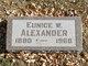 Eunice <I>Wallingford</I> Alexander