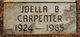 Profile photo:  Joella <I>Byers</I> Carpenter