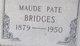 Maude Pate Bridges
