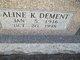 Profile photo:  Aline K <I>Dement</I> Brooks
