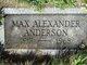 Max Alexander Anderson