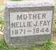 Profile photo:  Nellie J. <I>Taylor</I> Fay