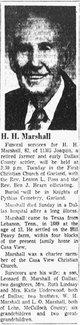 """Hatcher H. """"Hatch"""" Marshall"""