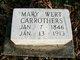 Mary <I>Wert</I> Carrothers