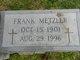Frank Edward Metzler