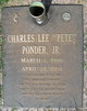 """Charles Lee """"Pete"""" Ponder, Jr"""