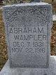 Profile photo:  Abraham Wampler