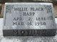 Willie <I>Black</I> Harp