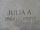 Julia A. <I>Stancil</I> Harris
