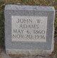 Profile photo:  John W Adams