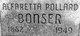 Alfaretta <I>Pollar</I> Bonser