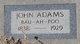 "Profile photo:  John ""Bau-Ah-Poo"" Adams"