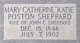 """Mary C """"Katie"""" <I>Poston</I> Sheppard"""