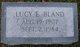 "Lucy Virginia ""Sue Sue"" <I>Edwards</I> Bland"