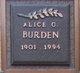 Profile photo:  Alice Burden
