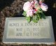 Profile photo:  Agnes A. <I>Downs</I> Rich