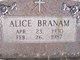 Profile photo:  Alice Branam